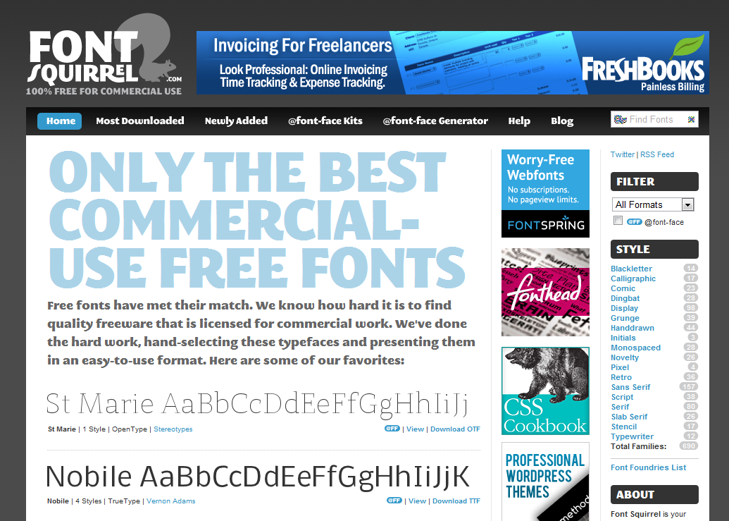 Font Squirrel   Handpicked free fonts for graphic designers with commercial-use licenses.