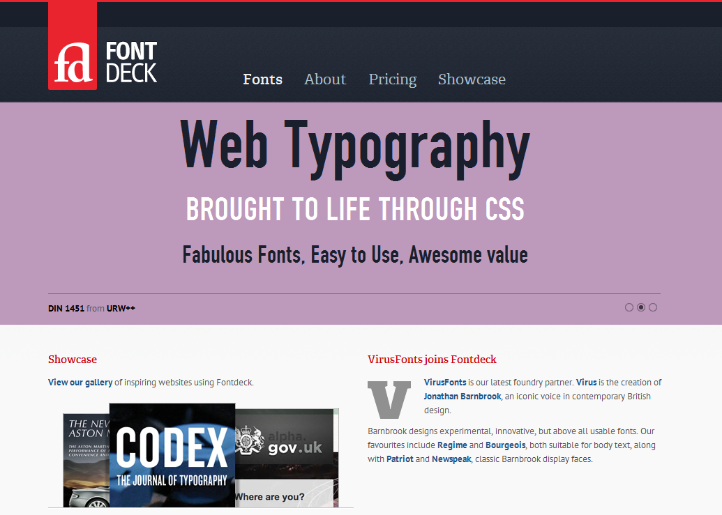 Fontdeck web fonts  Real fonts for your website