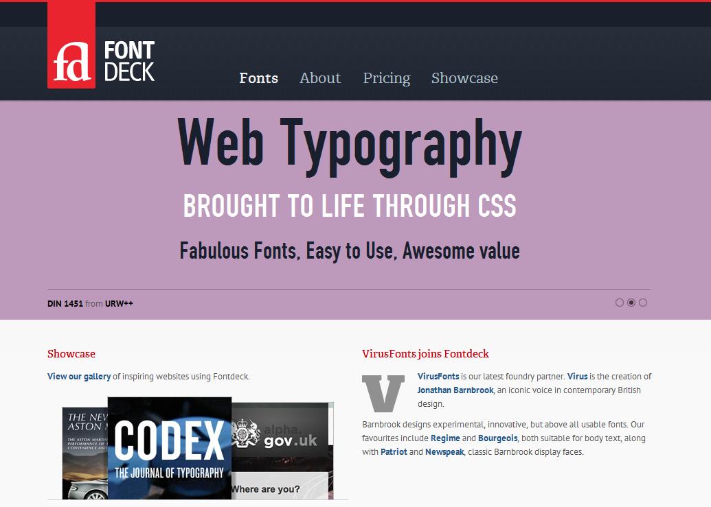 Fontdeck web fonts  Real fonts for your website