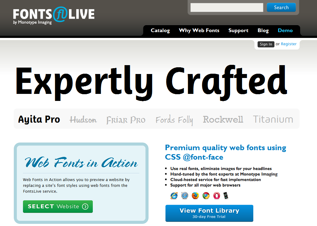 Fonts Live - Expertly Crafted Web Fonts from Monotype Imaging