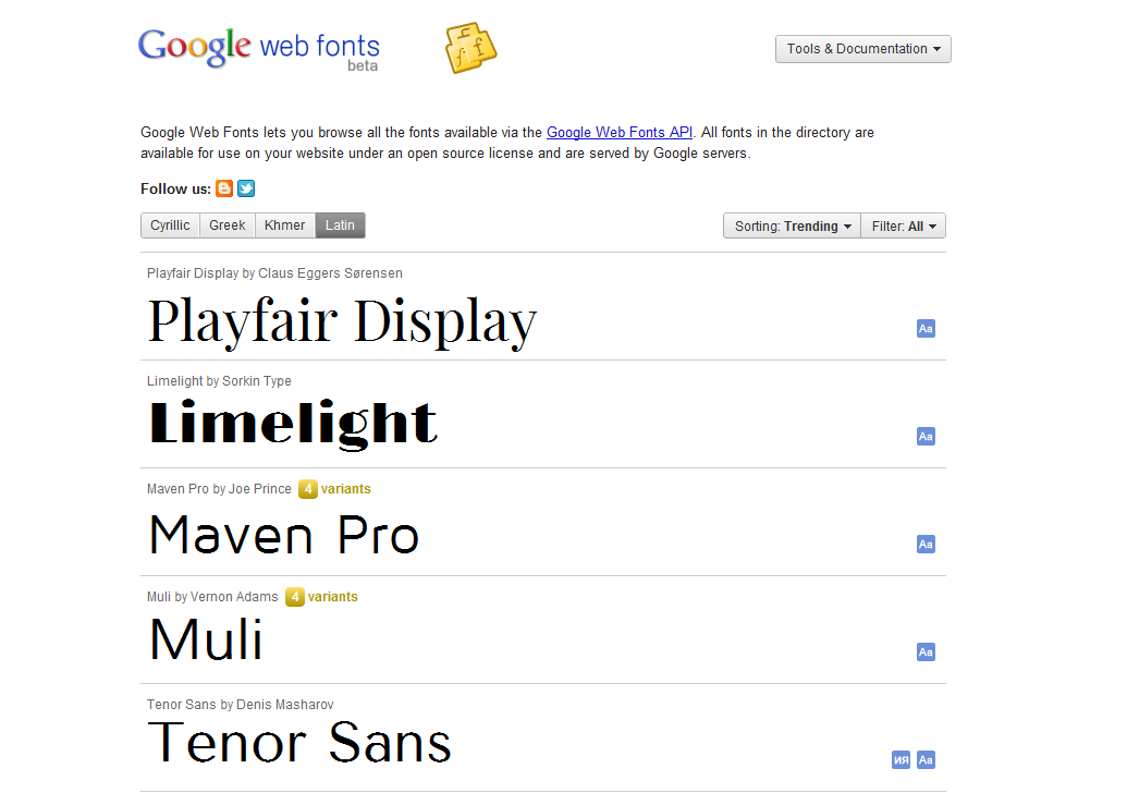 45 best online css tools and resources pritesh gupta for Fonts for google docs android
