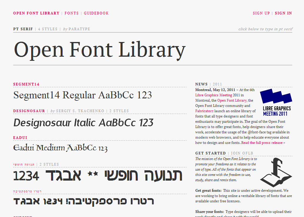 Open Font Library - Open Font Library