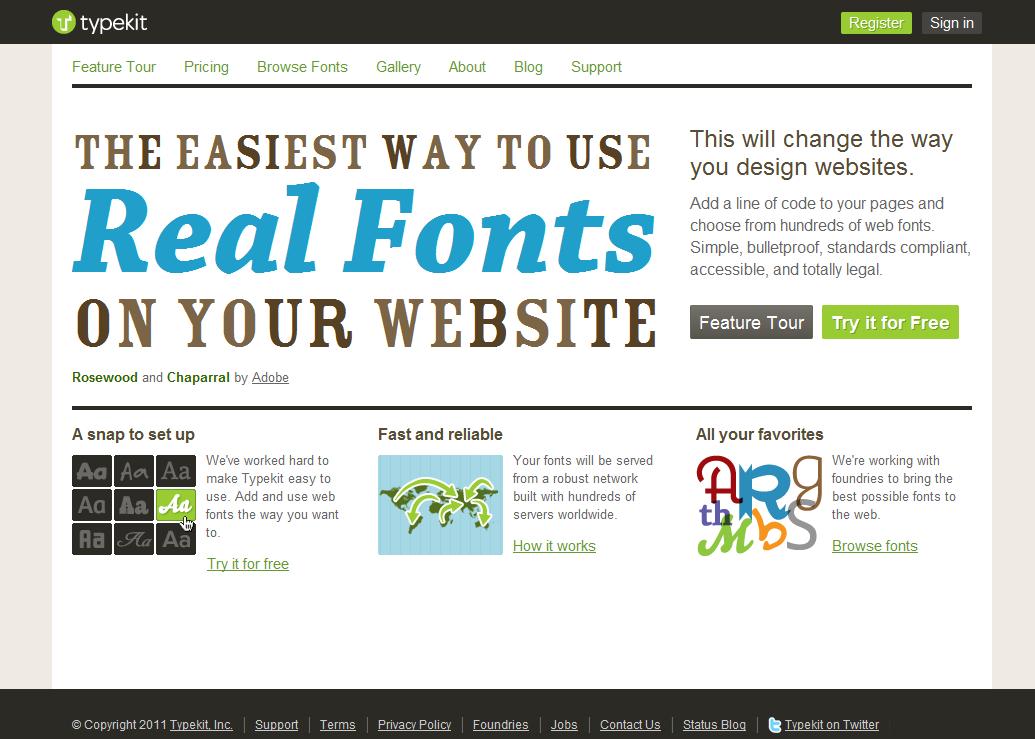 Open Font Library - Typekit