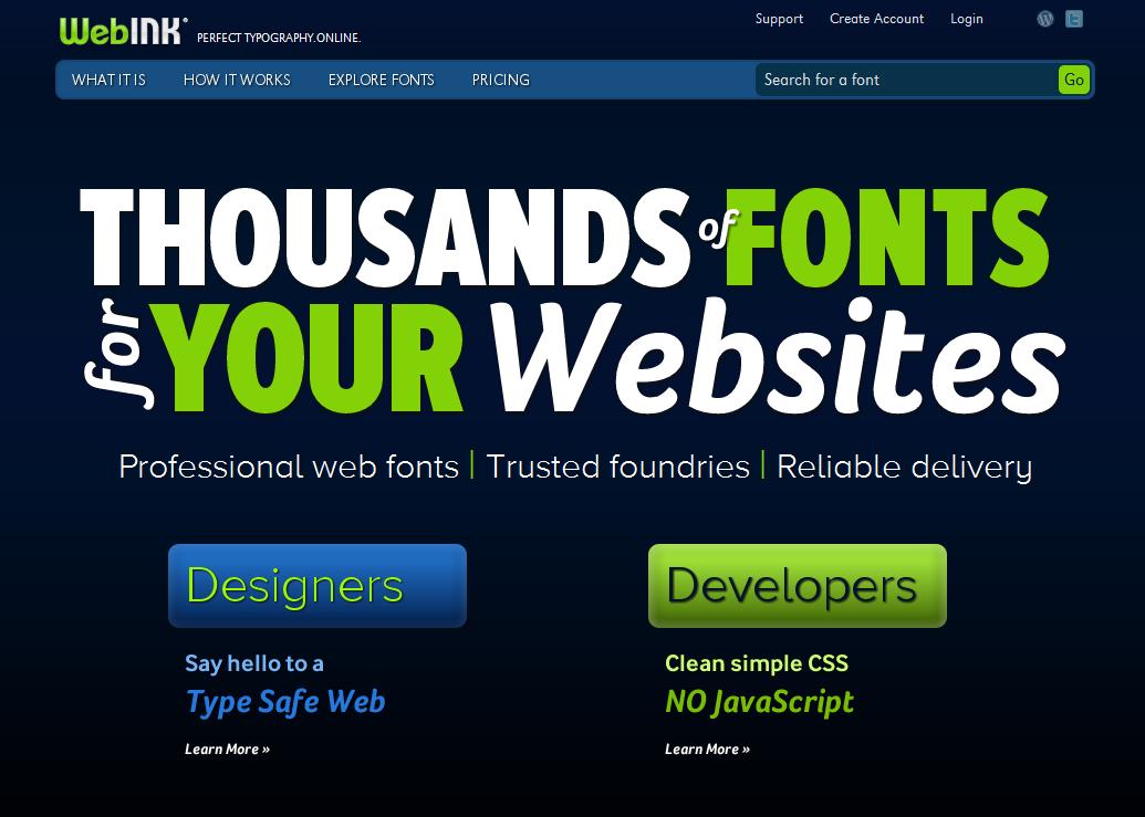 WebINK Web Fonts