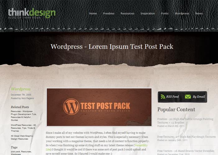 Lorem Ipsum Test Post Pack