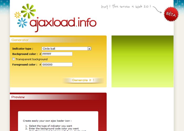 Ajaxload   Ajax loading gif generator