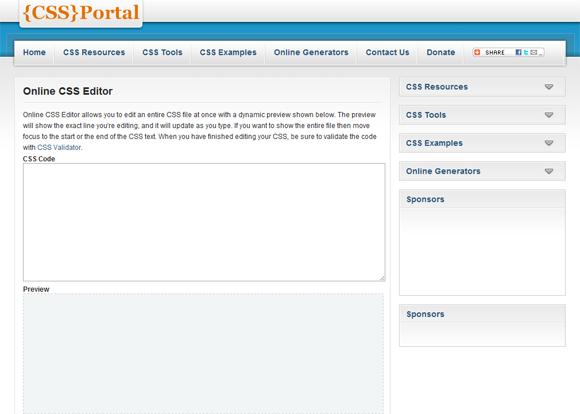 CSS Portal: Online CSS Editor