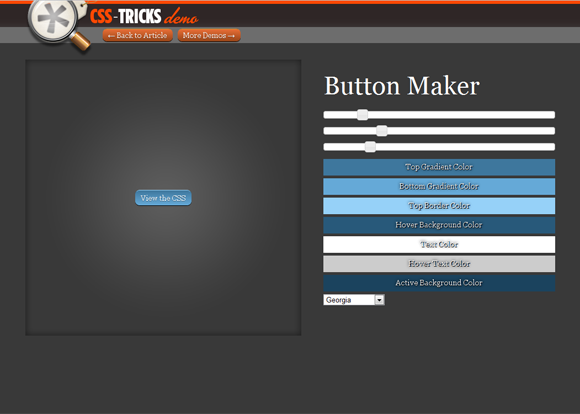 CSS-Tricks: Button Maker