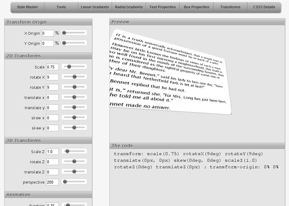 CSS3 3D Transforms