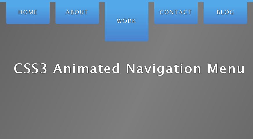 Pure CSS3 Navigation Menu