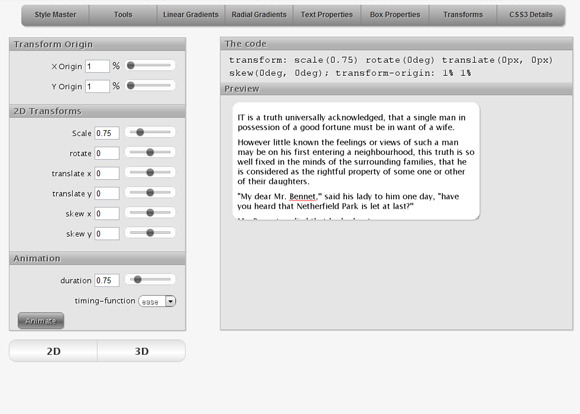 CSS3 Transforms