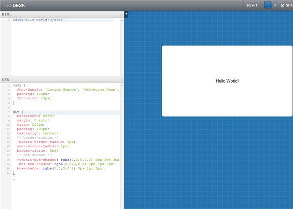 CSSDesk: Online CSS Sandbox
