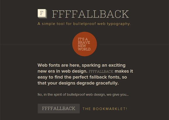 FFFFALLBACK: A Simple Tool for Bulletproof Web Typography