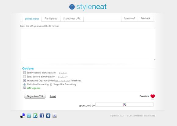 Styleneat: CSS Organizer