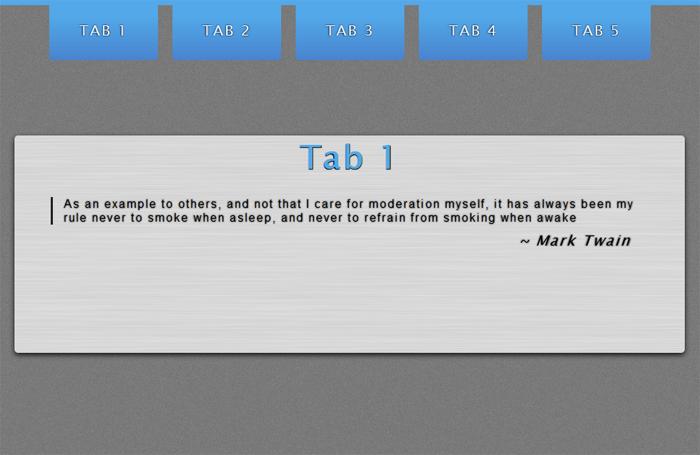 CSS3 Tabs with CSS3 Navigation Menu