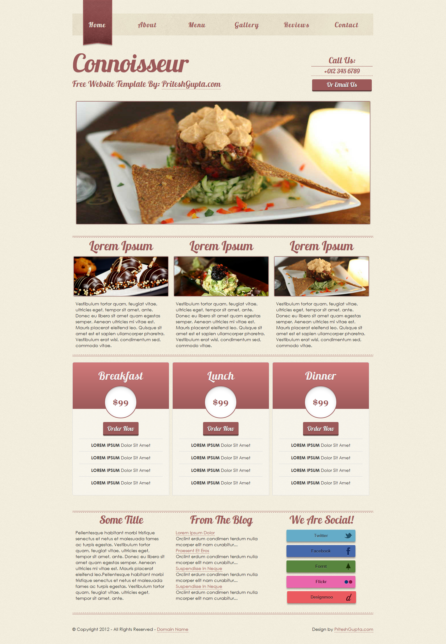 Connoisseur: Free Website Template | Pritesh Gupta